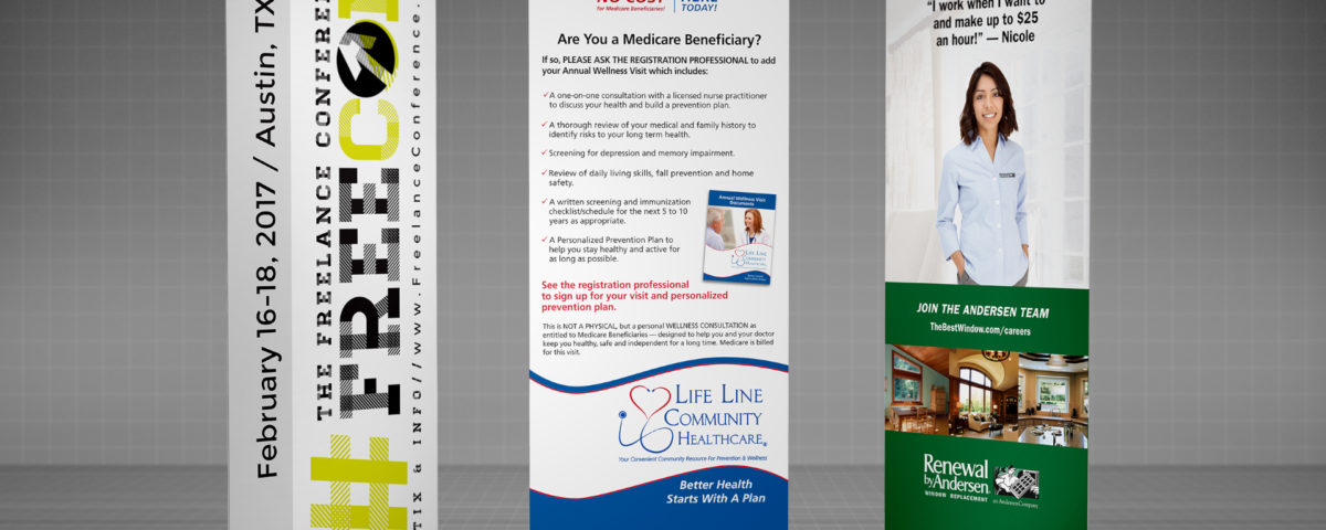 Various Trade Show Banners