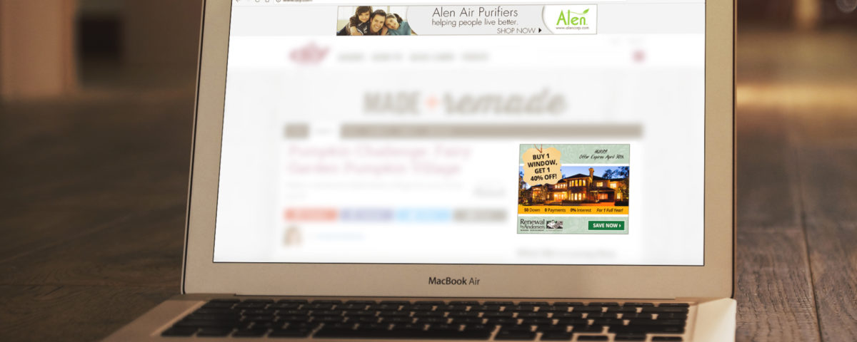 Banner ads for Alen Air Purifiers and Renewal By Andersen.